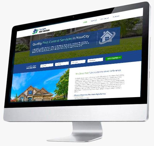 Pest Control Website Design - Website 6